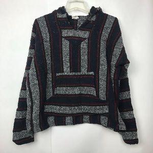 Frank's Textiles Baja Rug hoodie jacket poncho